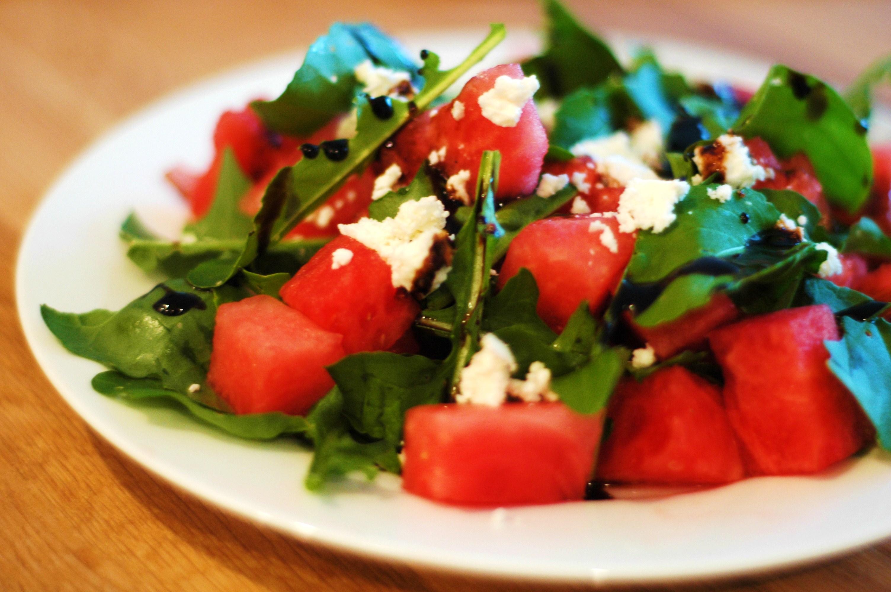 watermelon salad with feta or cotija recipe dishmaps. Black Bedroom Furniture Sets. Home Design Ideas