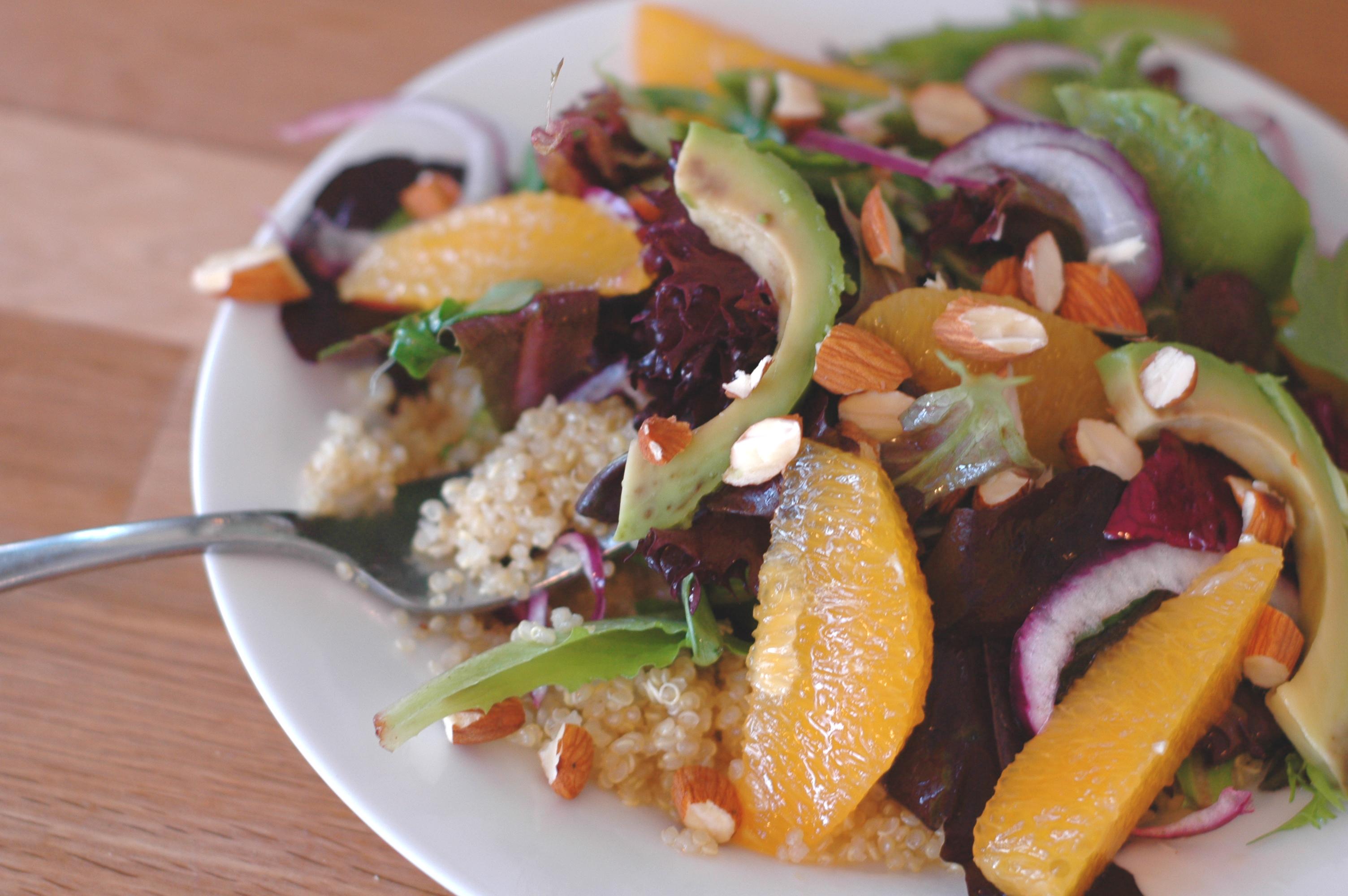 Quinoa Salad with Oranges, Avocado, and Almonds - but i'm ...