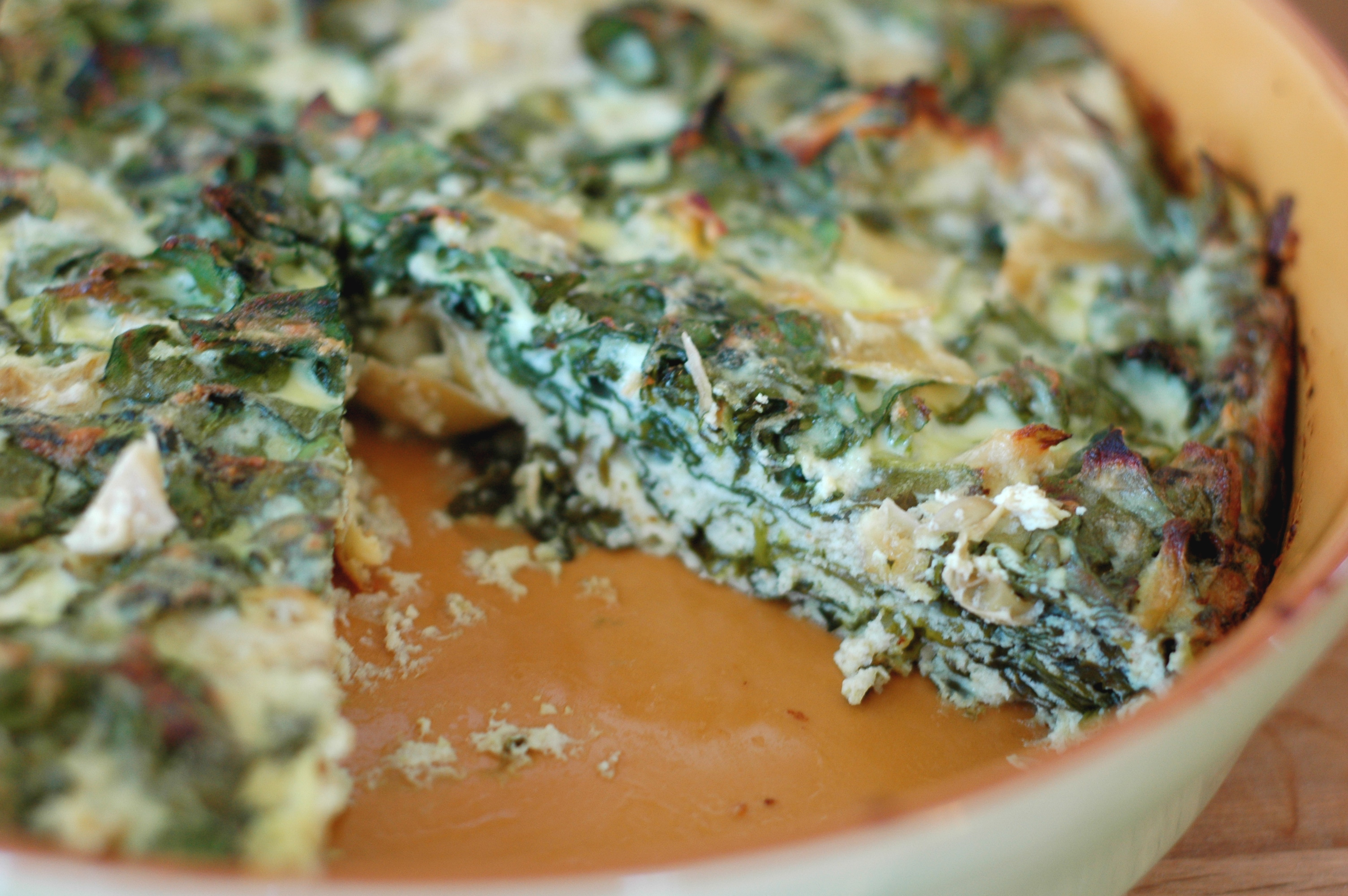 Artichoke, Spinach, and Ricotta Pie - but i'm hungry