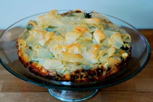Kohlrabi Pie with Feta and Dill