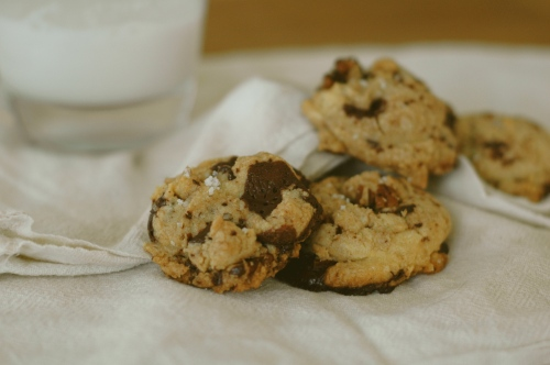 Chocolate Chunk Cookies with Brown Butter and Pecans
